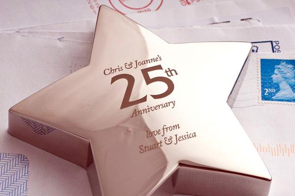 Cosa regalare alle nozze d 39 argento for Idee regalo per 25 anni matrimonio