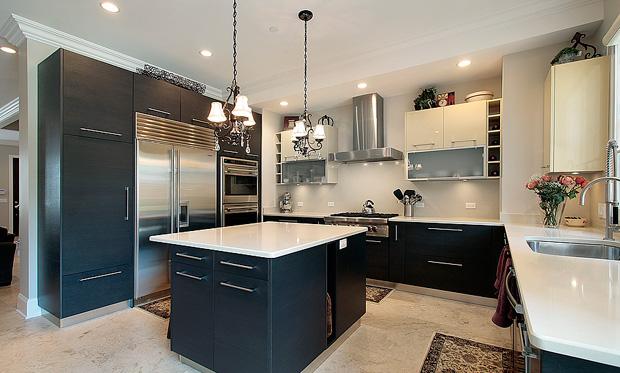 Cucine moderne - Piastrelle geometriche cucina ...