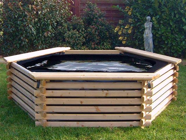 Piscina da giardino in legno for Piscine da giardino