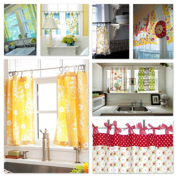 Tende per la cucina di casa - Tessuti per tende da cucina ...