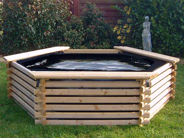 Piscina da giardino in legno - Rivestire piscina fuori terra fai da te ...