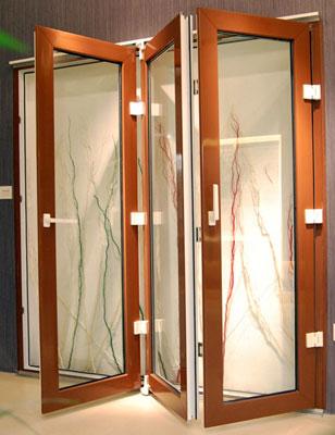 Porte a soffietto in legno - Porta a soffietto in vetro ...